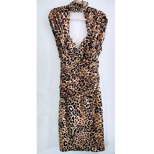 Vicky Tiel Vintage Leopard Silk Dress